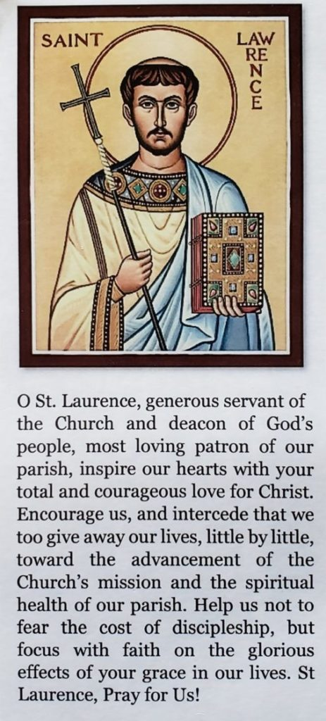 Prayer to St. Laurence in English